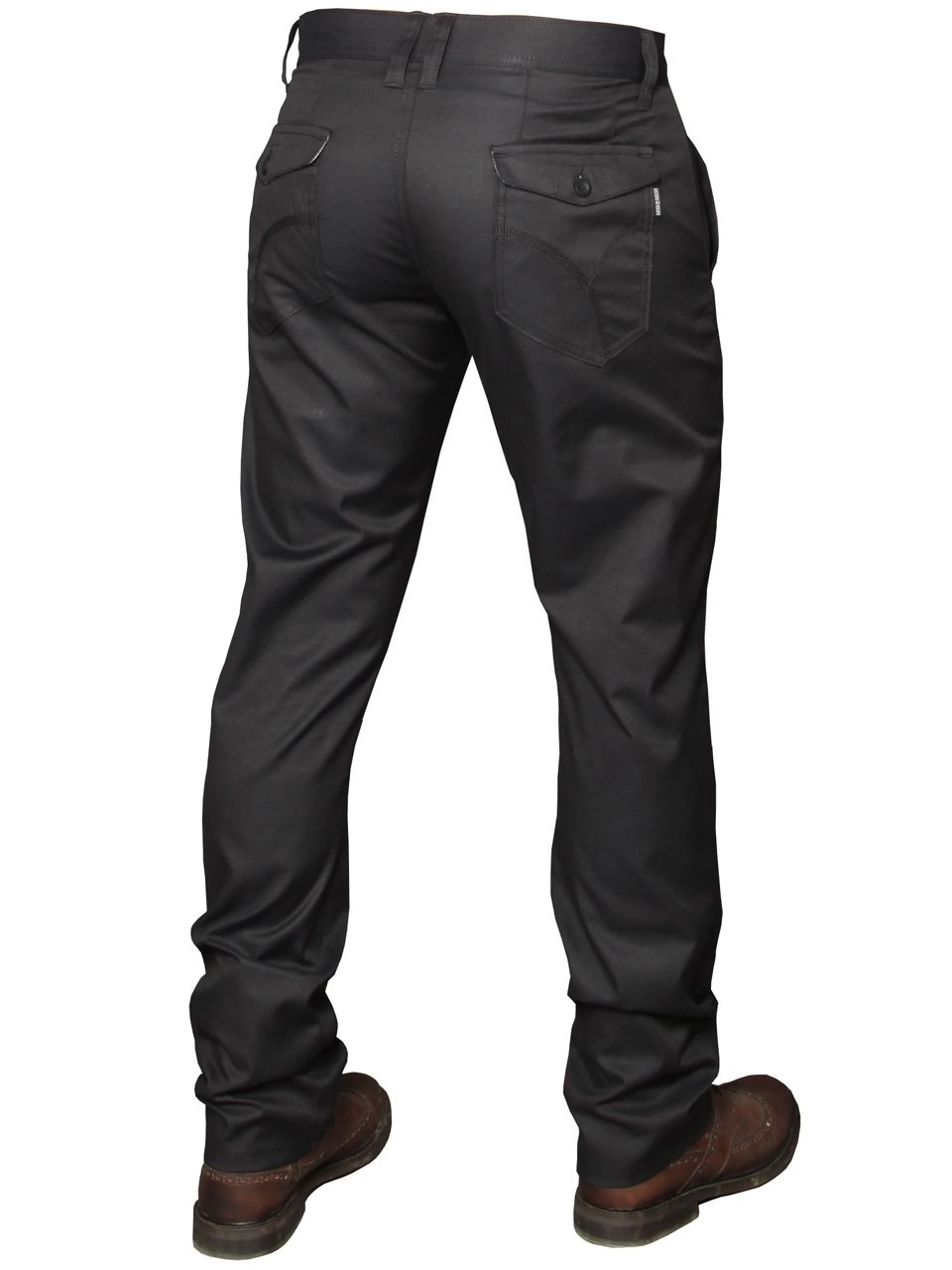 Mens Black Stretch Jeans